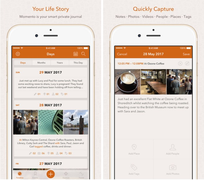 2021 日記app 推薦:Momento