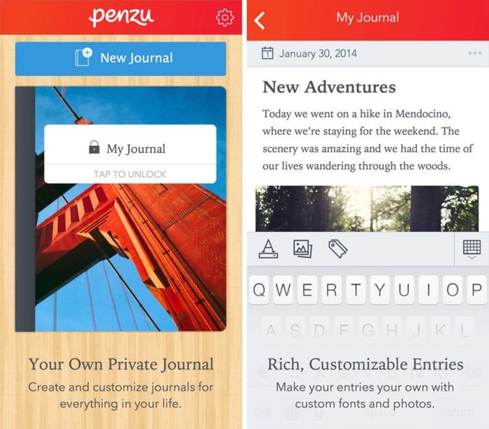 2021 日記app 推薦:penzu