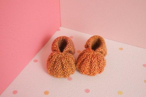 婴儿南瓜鞋的织法图解_毛线编织 宝贝南瓜鞋 婴儿鞋 梦梦 x 手作 pinkoi